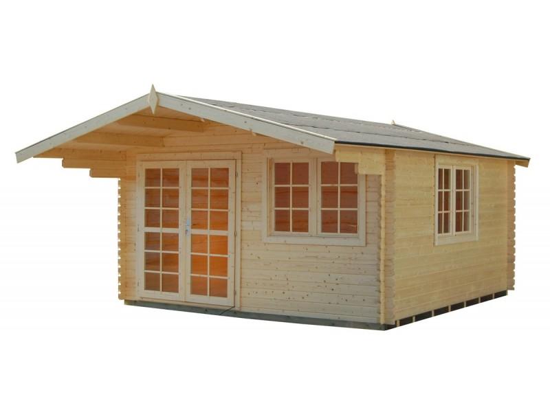 Casetas de madera sendy 1 400 x 400 cm 40 mm - Casetas jardin pvc ...