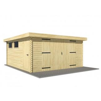 "Garatge de fusta ""MODERN 4x6"" - 44mm"