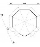 "Caseta octogonal ""VERONICA 2"""