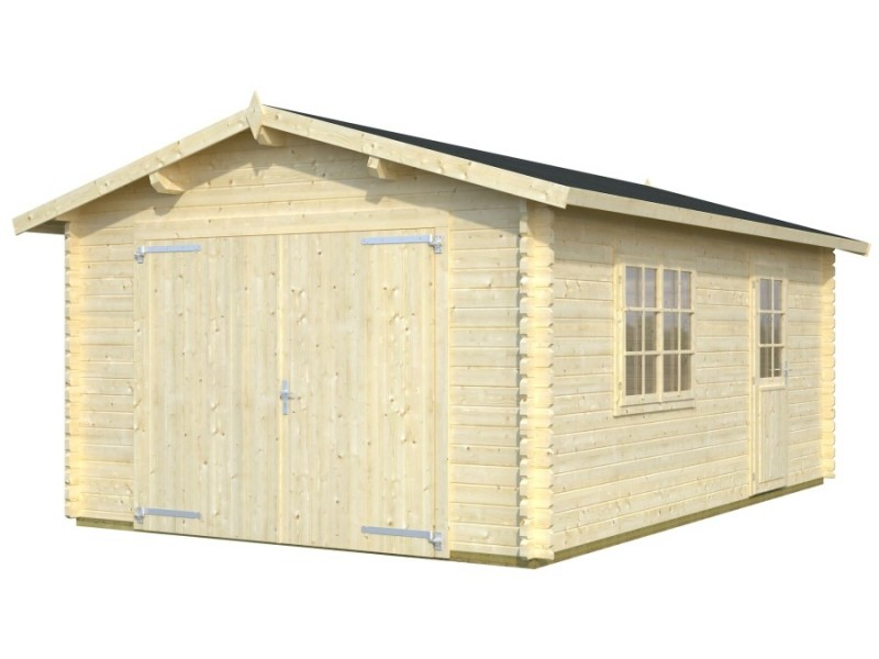 Garaje de madera roger 19 m2 - Garage de madera ...