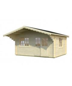 Caseta de jardín  LINA  4x5 con Gran Voladizo