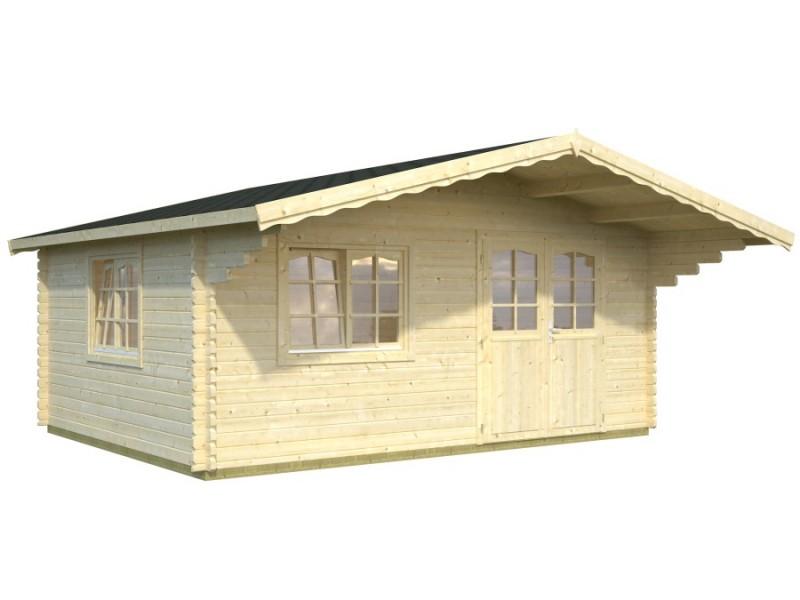 Caseta de jardín  OSLO  5x5  con Gran Voladizo