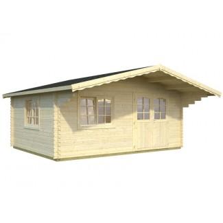 Caseta de jardín  OSLO  6x6 con Gran Voladizo