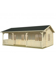 "Casa de madera ""SANDRA 25,6 + 11,1 m2"""