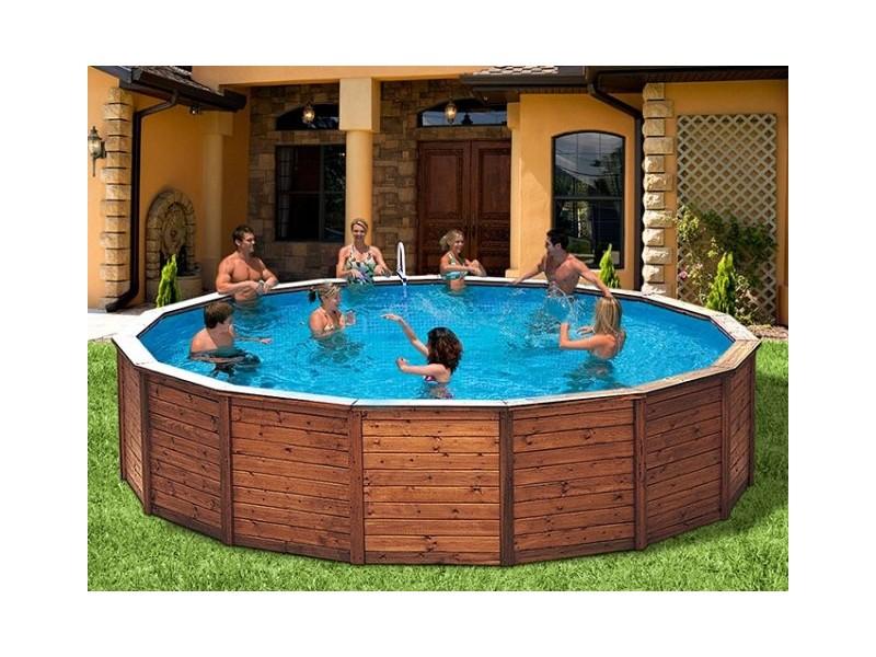 Piscinas prefabricadas piscina de madera samy 2 for Piscinas prefabricadas madera