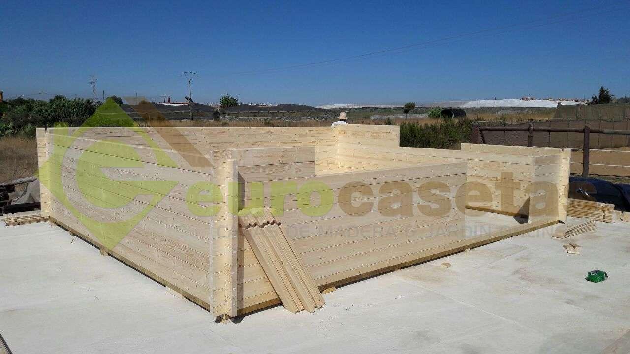 Montaje caseta de jard n altea 6x5 en cadiz eurocasetas casas de madera casetas caba as y - Casas de madera en cadiz ...
