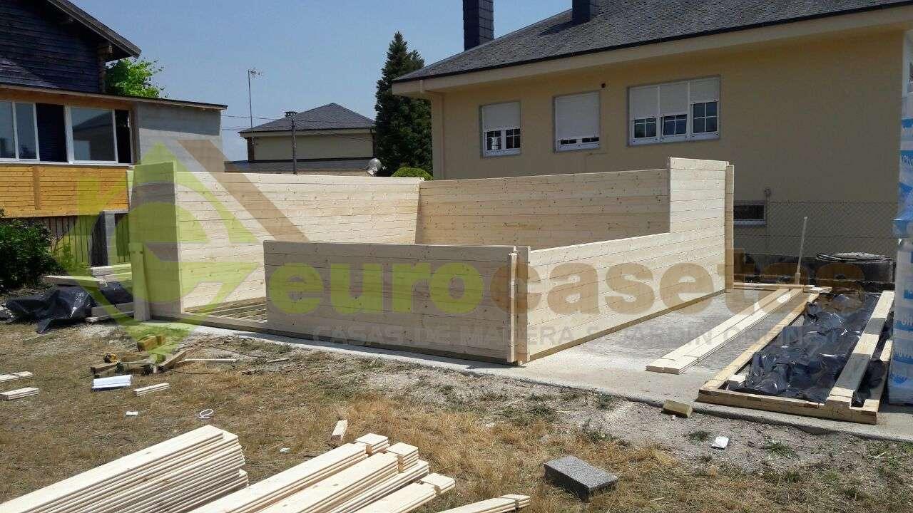 Montaje caseta de madera ALTEA 6x6 en Lugo