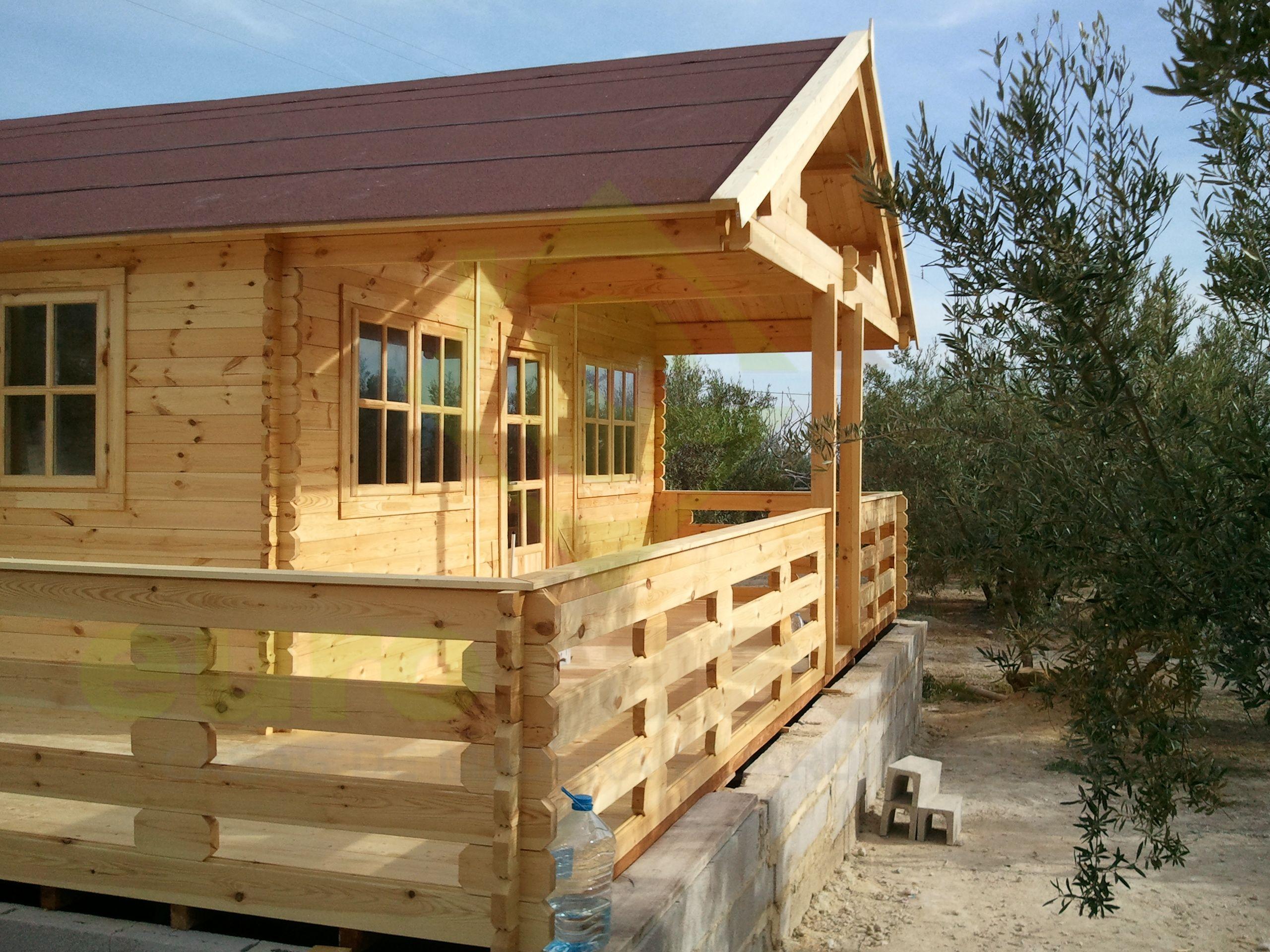 Montaje casa de madera asti en valencia eurocasetas - Casas de madera valencia ...