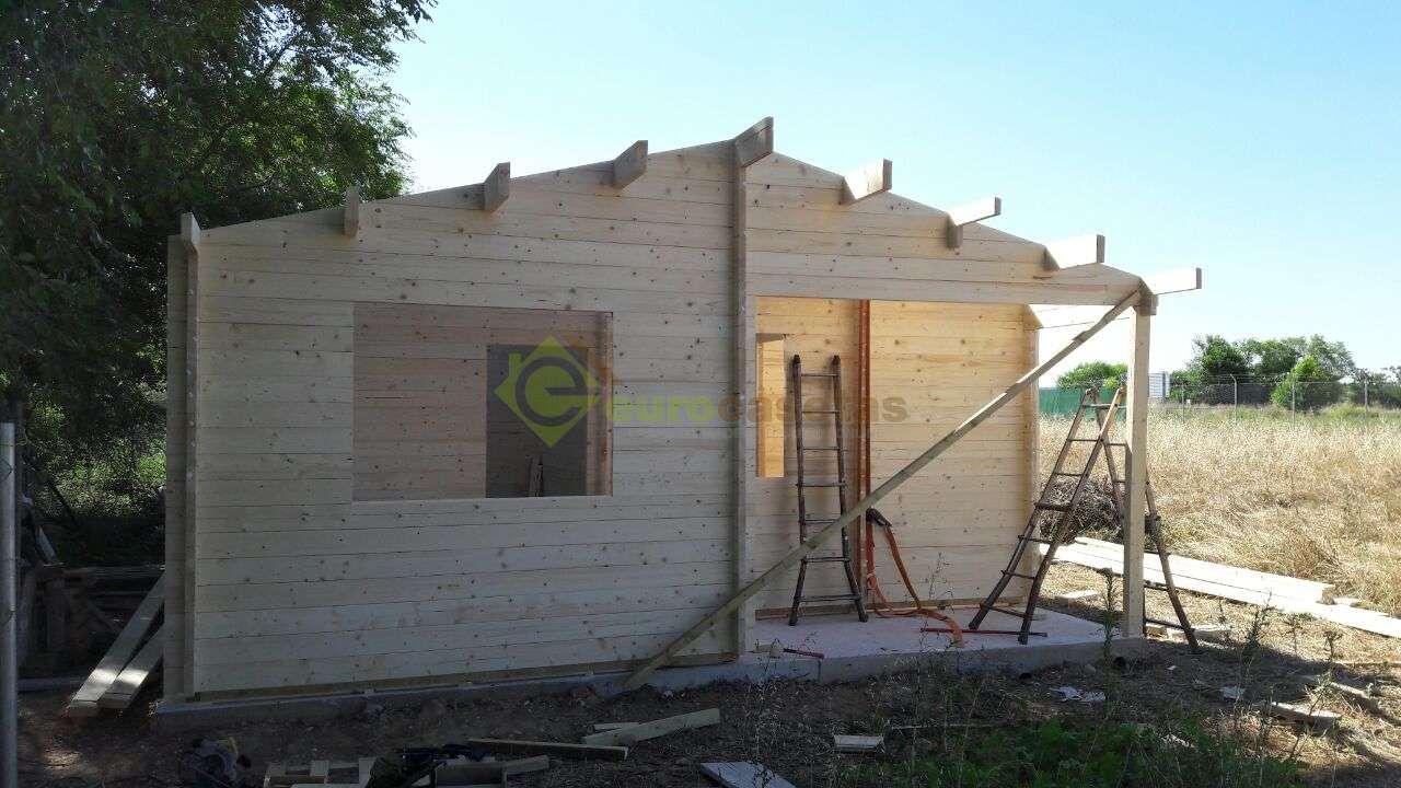 Montaje casa de madera fay en guadalajara eurocasetas - Montaje casa de madera ...