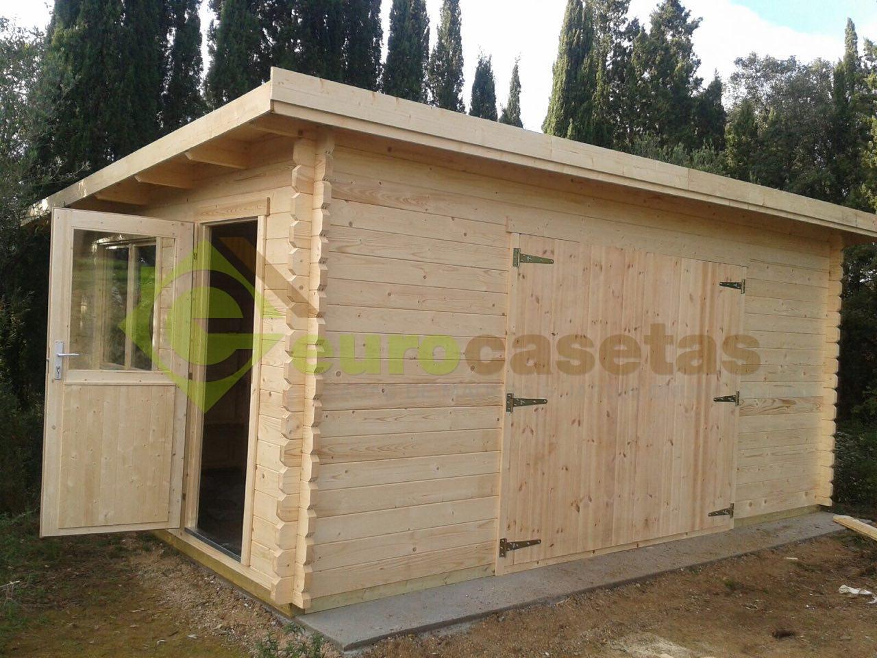 Garaje de madera modern eurocasetas casas de madera - Garaje de madera ...