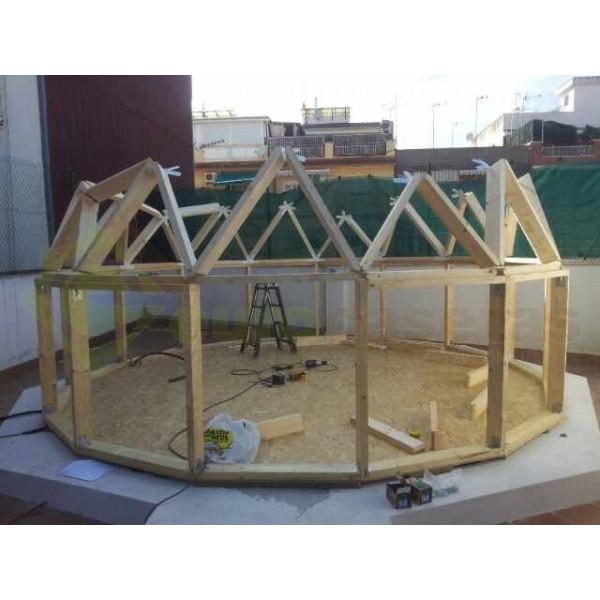 Montaje casa de madera geo bungalow 5 eurocasetas - Montaje casa de madera ...