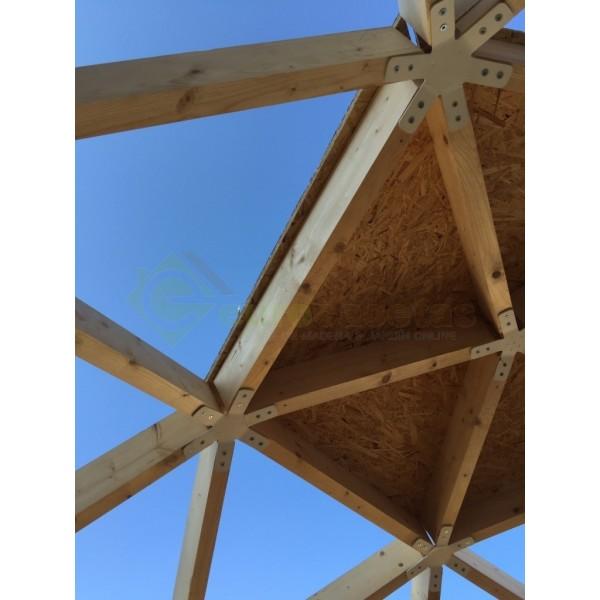 Montaje casa de madera geo bungalow 5 eurocasetas for Montaje tejados de madera