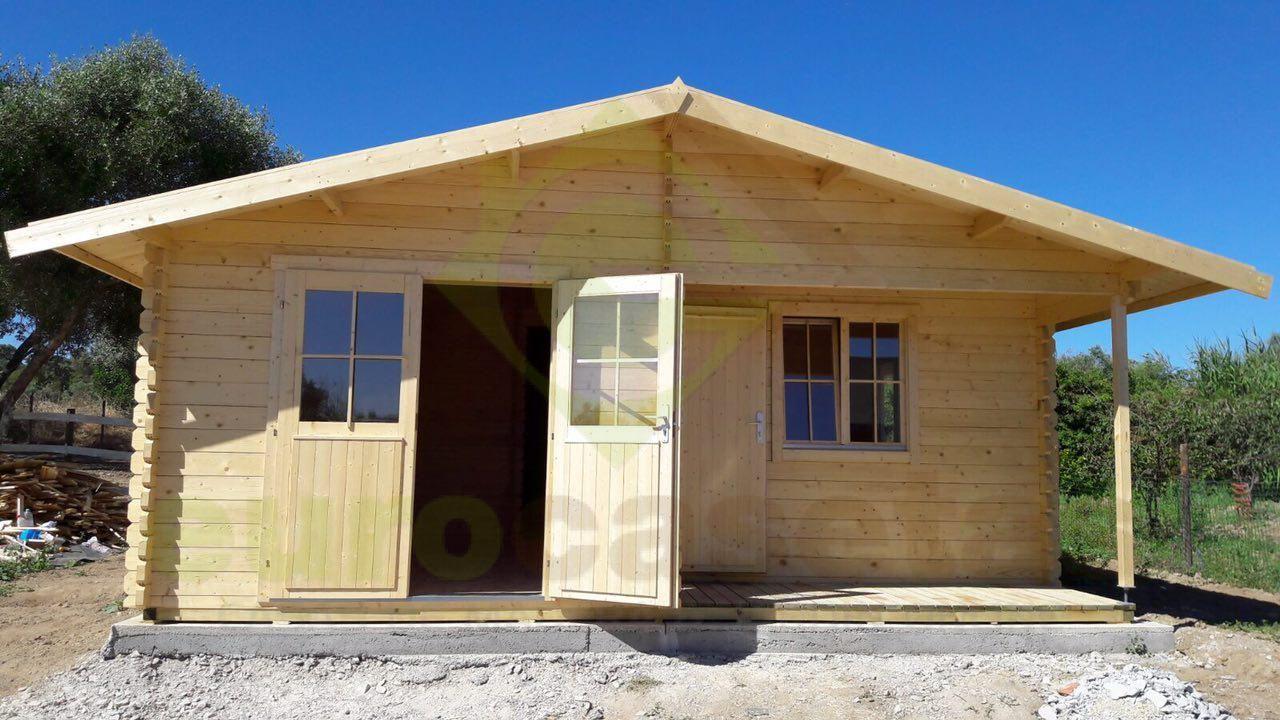 montaje casa de madera mallorca en portugal