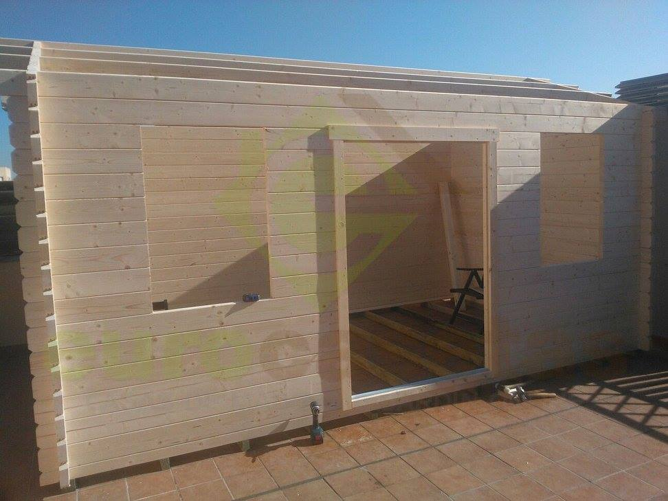 Montaje caseta de jard n nida plus eurocasetas casas - Caseta de madera para jardin ...