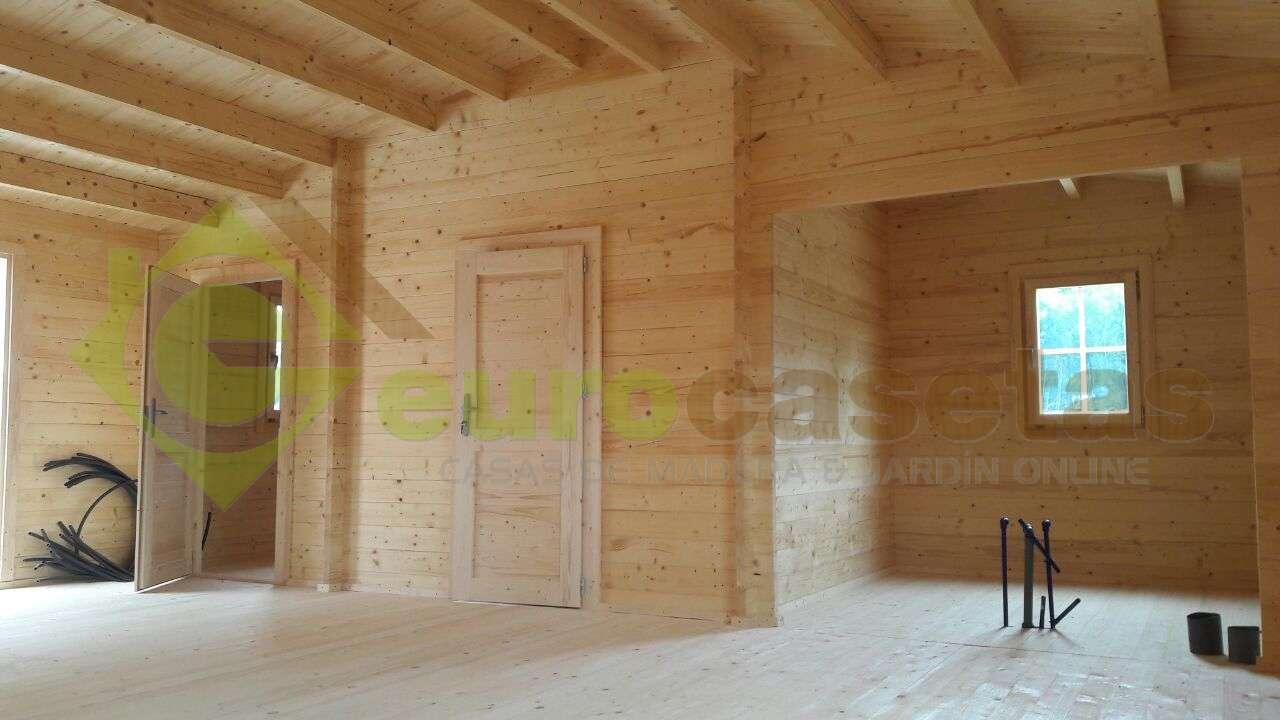 Montaje Casa de madera RADO en Portugal
