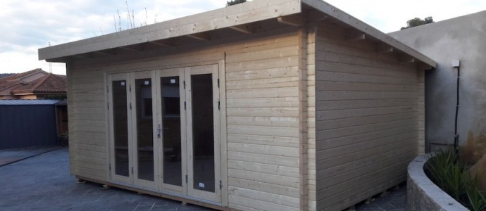 Montaje Caseta de madera LEA 19,4m2