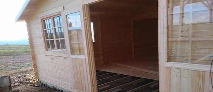 Montaje caseta de madera Altea 6x8  en Lleida