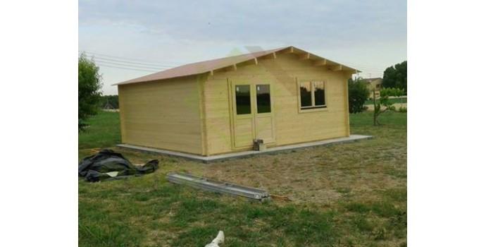 Montaje caseta de madera altea 6x6 eurocasetas casas for Montaje tejados de madera