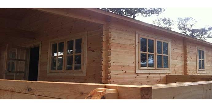 Montaje casa de madera asti en palma de mallorca for Casas en palma de mallorca