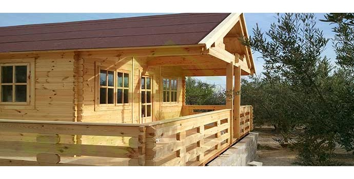 Montaje casa de madera asti en valencia eurocasetas - La casa de madera valencia ...