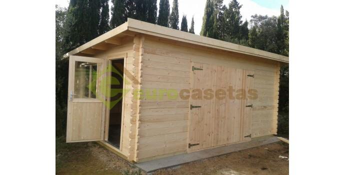 Garaje de madera modern eurocasetas casas de madera - Casetas de metal ...