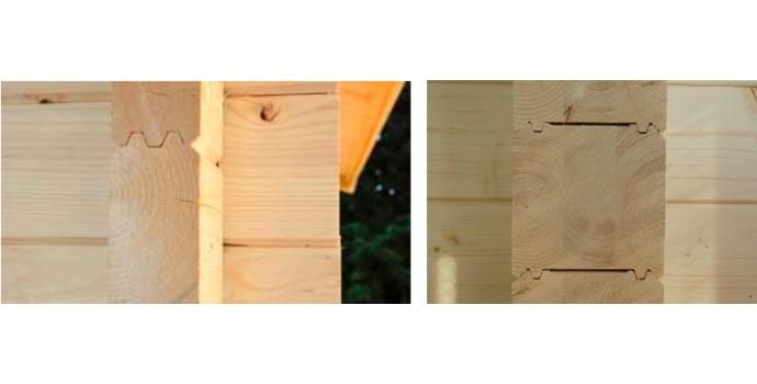 Madera maciza y madera laminada eurocasetas casas de for Tejado madera maciza