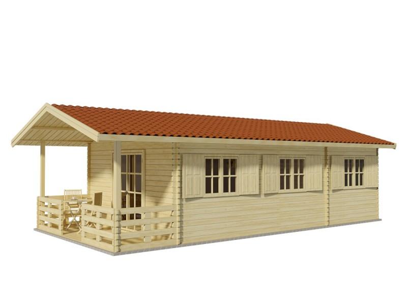 """Casa de madera """"LUGO"""" - 44mm"""