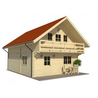 """Casa de madera """"EMMEN"""" - 44mm"""