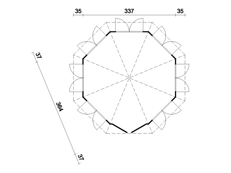 """Caseta octogonal """"CARMEN 7"""""""