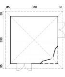 CASETA DE JARDIN PABELLON MELANIE 9,6 m2