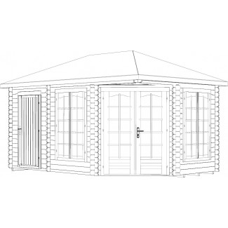 CASETA DE JARDIN PABELLON MELANIE 10,7  m2