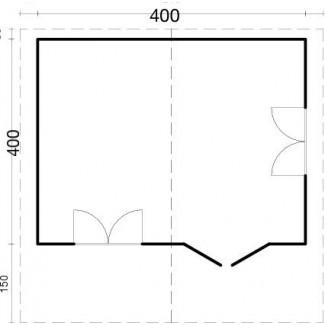 """Caseta de jardí """"CAROLINA 4x4"""""""