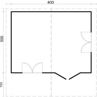 "Caseta de jardín ""OSLO  5x4"""