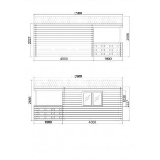 Caseta de jardín  ROY 4x6