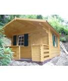Caseta de jardín de 34 mm SYLVI 10.4 + 4.2 m2