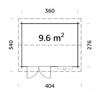 "Caseta de jardín ""IRIS 9,6 m2"""