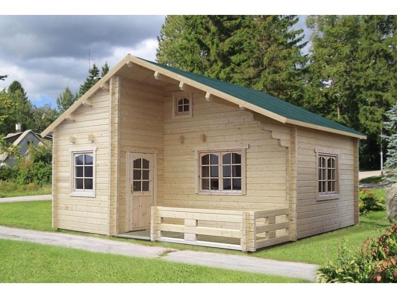 Casa de madera EMILY 40,1 + 5,2 m2