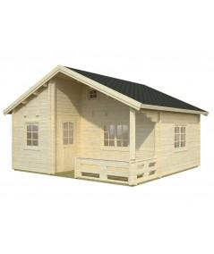 """Casa de madera  """"EMILY 40,1 + 5,2 m2"""""""