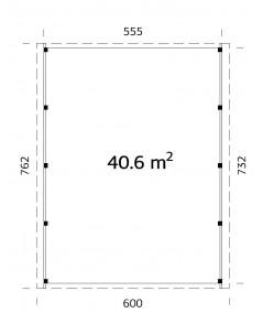 CARPORT DE MADERA  KARL 40,6  m2