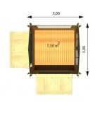 Kiosco de madera EURO 44