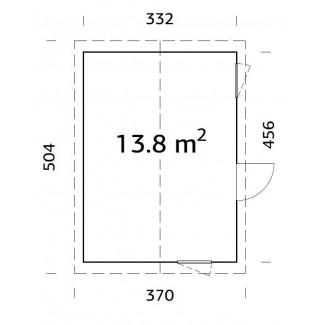 CASETA NORDICA   HEDWIG  13,8 m2
