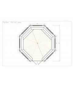 """Caseta octogonal """"CARMEN 4"""""""