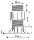 Soportes regulables con cabezal autonivelante,  37,5-50  mm