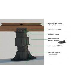 Soportes regulables con cabezal autonivelante,  250-385  mm