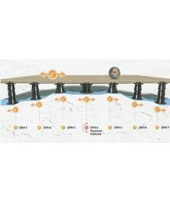 Soportes regulables con cabezal autonivelante,  140-230  mm
