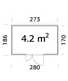 TRASTERO DE MADERA  LEIF 4,2 m2
