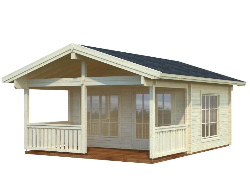 """Casa de madera  """"AGNETA  18,8 + 12,5 m2"""""""