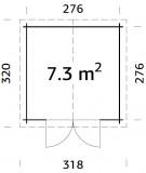 "CASETA DE JARDIN  ""RALF  7.3 m2"""