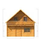 """Casa de madera """"EMMEN"""" - 66mm"""