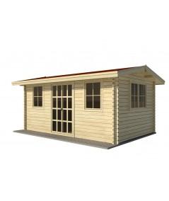 Caseta de jardín NIDA 4x4 , 16 m2 , 44 mm